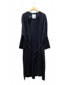 BEARDSLEY(ビアズリー)の古着「ラミーロング羽織」|ネイビー