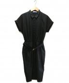 BEIGE(ベイジ)の古着「ベルト付ワンピース」|ブラック