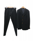 COMME des GARCONS HOMME PLUS(コムデギャルソンオムプリュス)の古着「セットアップスーツ」|ブラック