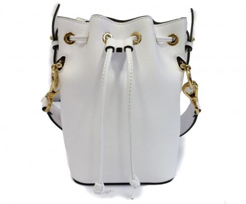 FENDI(フェンディ)FENDI (フェンディ) モントレゾールミニ巾着ショルダーバッグ ホワイト モントレゾールミニの古着・服飾アイテム