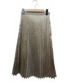 ELENDEEK(エレンディーク)の古着「プリーツスカート」|ゴールド