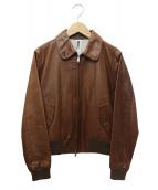 MHL.(エムエイチエル)の古着「レザージャケット」|ブラウン