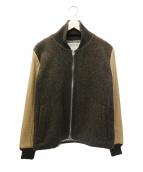 REMI RELIEF(レミレリーフ)の古着「袖レザー切替ブルゾン」