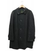 GRENFELL(グレンフェル)の古着「ヘリンボーンオーバーコート」|グレー