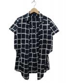 Leilian(レリアン)の古着「レイヤードシャツ」|ブルー
