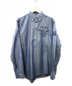 VAN(ヴァン)の古着「シャンブレー刺繍シャツ」 インディゴ