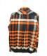 sacai (サカイ) リブチェックシャツ オレンジ サイズ:2 未使用品:12800円