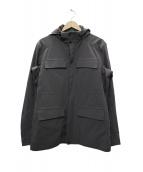 Belstaff(ベルスタッフ)の古着「フーデッドジャケット」|グレー
