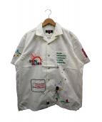 VAN(ヴァン)の古着「刺繍オープンカラーシャツ」 ホワイト