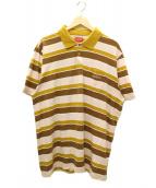 SUPREME(シュプリーム)の古着「ポロシャツ」|ブラウン×ピンク