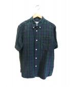 SASSAFRAS(ササフラス)の古着「リネンシャツ」 ブルー×グリーン