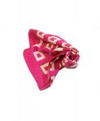 BVLGARI(ブルガリ)の古着「スカーフ」 ピンク