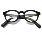 金子眼鏡(カネコメガネ)の古着「ウッド加工ウェリントン 眼鏡」|ブラック