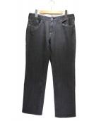 Leilian(レリアン)の古着「デニムパンツ」|ブラック