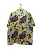 CUSHMAN(クッシュマン)の古着「NASCARプリントアロハシャツ」|イエロー
