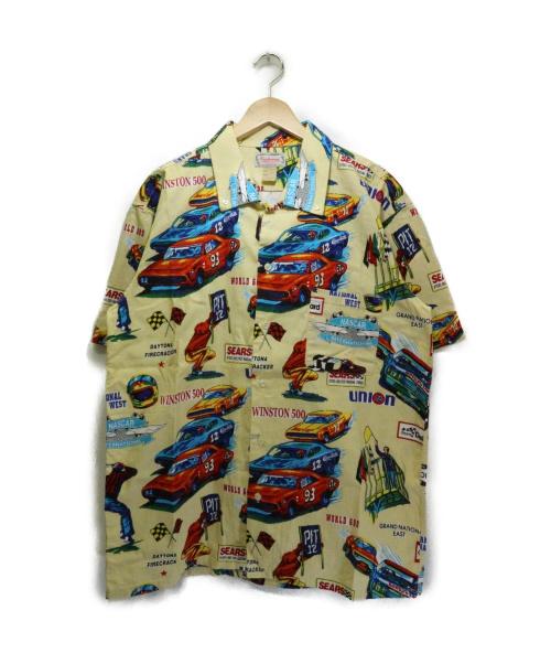 CUSHMAN(クッシュマン)CUSHMAN (クッシュマン) NASCARプリントアロハシャツ イエロー サイズ:XL 76UNION SEARS CHAMPION NASCAR INTERNATIONALの古着・服飾アイテム