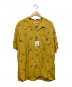 CUSHMAN(クッシュマン)の古着「オープンカラーシャツ」|ベージュ