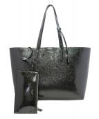 SAINT LAURENT PARIS(サンローランパリ)の古着「SHOPPING BAG パテントレザートートバッグ」|ブラック