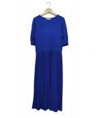 Demi-Luxe BEAMS(デミルクス ビームス)の古着「ニットフレアワンピース」|ブルー