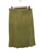 ISSEY MIYAKE(イッセイミヤケ)の古着「プリーツスカート」|ベージュ