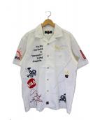 VAN(ヴァン)の古着「刺繍シャツ」 ホワイト