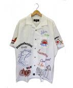 VANS(ヴァン)の古着「刺繍シャツ」 ホワイト