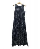 MARIHA(マリハ)の古着「夏のレディのドレス ポルカドットワンピース」 ネイビー