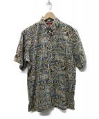reyn spooner(レインスプーナー)の古着「ディズニープリントアロハシャツ」|ベージュ