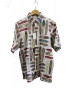reyn spooner(レインスプーナー)の古着「サーフプリントアロハシャツ」|ホワイト