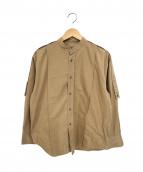JIL SANDER(ジルサンダー)の古着「バンドカラーシャツ」 ベージュ