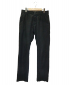 MARGARET HOWELL(マーガレットハウエル)の古着「COTTON SILK LIGHT TWILL PANTS」|ブラック