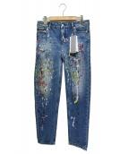 Calvin Klein(カルバンクライン)の古着「ペイントデニムパンツ」|インディゴ