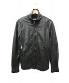 EMPORIO ARMANI EA7(エンポリオ アルマーニ イーエーセブン)の古着「切替レザージャケット」|ブラック