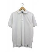 Drumohr(ドゥルモア)の古着「ポロシャツ」|ホワイト