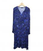 TARA JARMON(タラジャーモン)の古着「花柄ワンピース」|ブルー