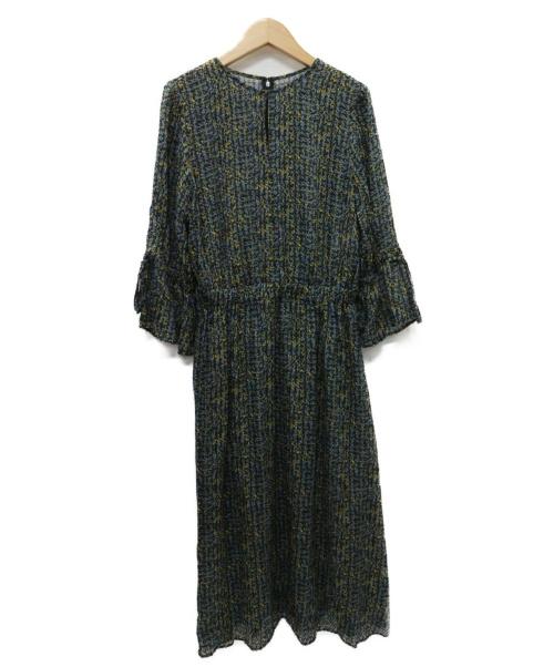 ANAYI(アナイ)ANAYI (アナイ) スモールキカフラワー袖リボンワンピース イエロー サイズ:38 参考価格68.200円税込の古着・服飾アイテム