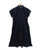 MORIKAGE SHIRT(モリカゲシャツキョウト)の古着「シャツワンピース」|ブルー