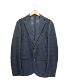 MAURIZIO BALDASSARI(マウリツィオ バルダサーリ)の古着「千鳥ジャガードジャケット」|グレー