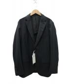 narifuri(ナリフリ)の古着「ウールブレンドピンヘッド柄ジャケット」|ネイビー