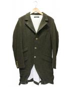 JOHNBULL(ジョンブル)の古着「ツイードチェスターコート」|グリーン