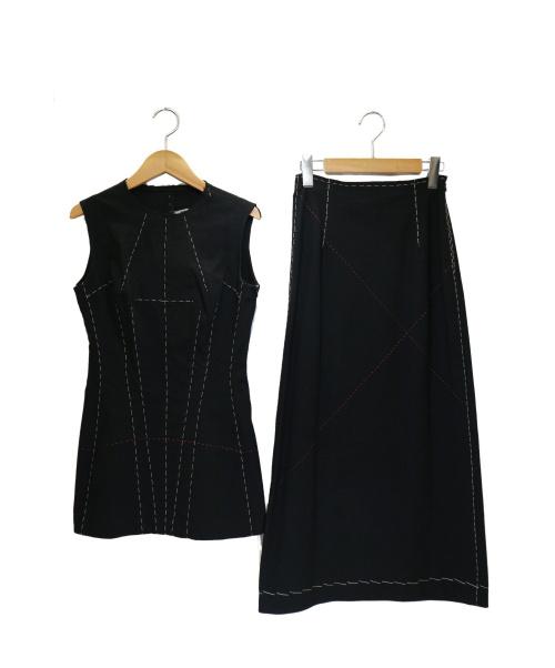 YOHJI YAMAMOTO(ヨウジヤマモト)YOHJI YAMAMOTO (ヨウジヤマモト) セットアップ ブラック サイズ:1の古着・服飾アイテム