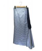 BLAMINK(ブラミンク)の古着「リバーシブルフレアスカート」|ブルー