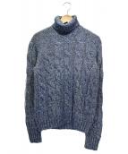 GRAN SASSO(グランサッソ)の古着「タートルネックニット」|ブルー