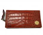 Orobianco(オーロビアンコ)の古着「クロコ型押し 長財布」 ライトブラウン