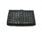 BOTTEGA VENETA(ボッテガヴェネタ)の古着「イントレチャート2つ折り財布」|ブラック