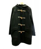 MHL(エムエイチエル)の古着「BASIC MELTON DUFFLEコート」|グリーン