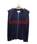 MIHARA YASUHIRO(ミハラヤスヒロ)の古着「マフラー付ニットパーカー」|ネイビー