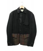 Y's(ワイズ)の古着「ウールデザインジャケット」 ブラック