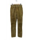 HOLIDAY(ホリデイ)の古着「HIGH WAIST SKINNY SUEDE PANTS」|ブラウン