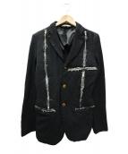 COMME des GARCONS HommePlus(コムデギャルソンオムプリュス)の古着「ポリ縮絨ジャケット」|ブラック